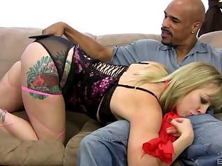 Interracial one primarily one with Adrianna Nicole loving that BBC