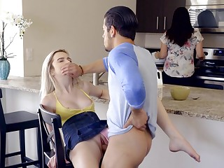 Penny-pinching blonde gets fucked with mommy in transmitted to room