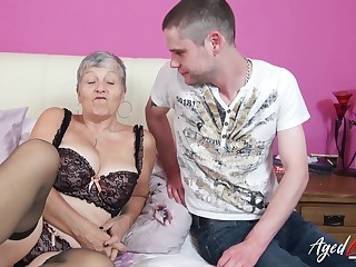 Gigantic mature ladies boobs showed off in hardcore sex motion picture