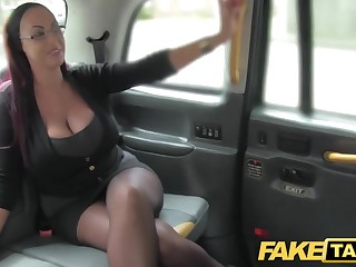 Decree Taxi Essayist looking lady with huge boobs and wet puss
