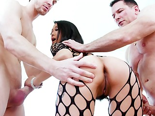 Asian starlet deals two monsters in the matter of perfect modes