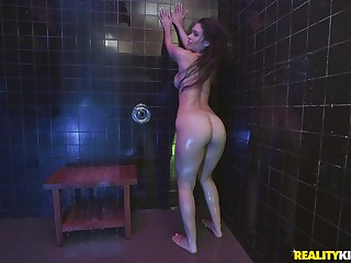 Doggy fuck in be passed on shower with wet bombshell pamper Katana Kombat