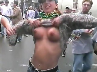 [HD] oustandingly time to mardi gras tits small to average size