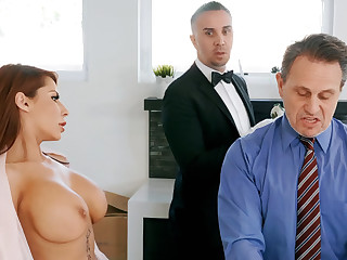 Horny butler is near to anal lose one's heart to housewife