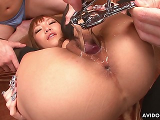 Well done Japanese botch Hina Otsuka is fucked by several clients