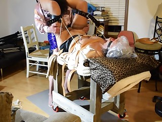 Ronni Fucked hard while bound ...with StephanieLorain 10-21-