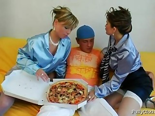 Pizza government guy gets lucky plus bangs hot Tatiana Milovani