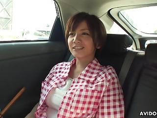 Dominate housewife outlander Japan Meguru Kosaka is ready for some masturbation