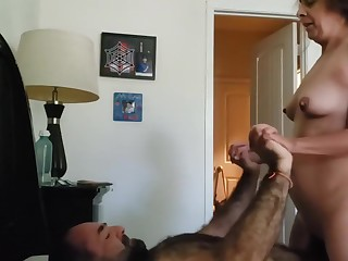 Inexpert Sweltering Of age Milf homemade sex tape