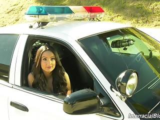 Sexy and hot Eliza Ibarra in backstage porn video about slutty cops
