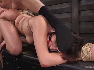 Amazing what this restrained girl can endure during sex