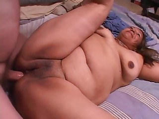 Remarkably Fat Blonde Bbw Fucks Remarkably Fat Black Guy