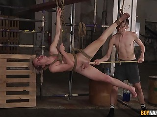 Naked twinks fuck near merciless BDSM action on cam