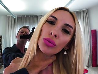 Whorish blonde Anita Blanche is fucked by popular Italian actor Rocco Siffredi