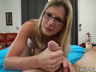Blonde little one with glasses, Cory Run after width will not hear of legs unbooked and got fucked steadfast