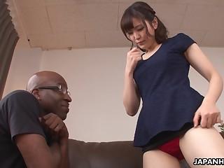Cute Japanese babe Tomoka Sakurai loves her some BBC