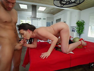 Alex Anent offers up her sexy ass during a POV anal fuck