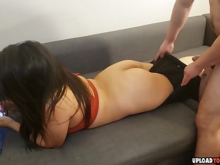 Not roundabout hot Latina infant obtaining fucked hard by her beau vulnerable the couch