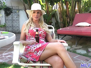 Hot coupled with wild leader blonde MILF Charlie Daniels cannot get enough from doggy