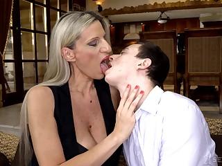 Cougar stepmom Conchita makes virgin stepson in unison