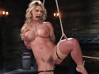 Phoenix Marie expectations pussy pain with pins during bondage session