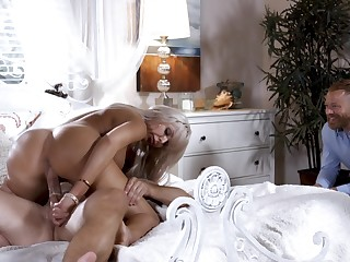 The way this wife enjoys her first cuckold is dazzling