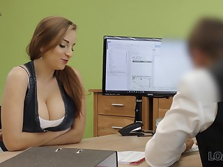A order of the day graduate seduces her future kingpin with her tits and fucks him good