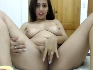 thick latina having fun masturbating exceeding webcam live