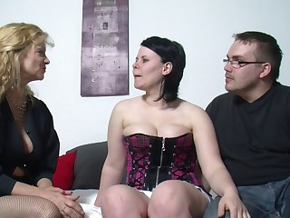 Fat wife spreads her legs to be fucked bordering her pulse friend
