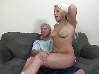 Tow-headed get hitched Cali Westbrook loves riding say no to husbands dick on the sofa