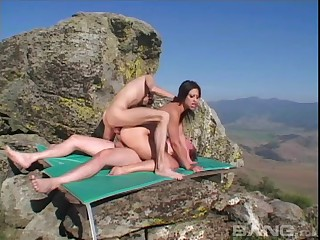 Lewd outdoors sample penetration threesome with Jayna Oso
