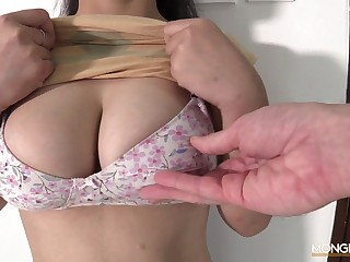 Hot sexy and the man Asian escort sucking a white horseshit with love