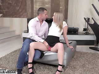Russian girl Danielle Soul is craving be fitting of something special chip deepthroat blowjob session
