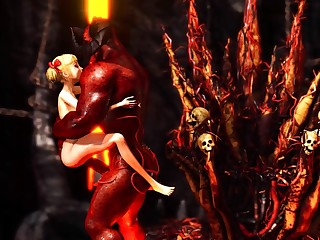Devil plays with a super hot girl spirit of evil