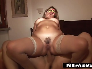 Unfaithful Wife Invites Alex With an increment of His Friends Around Fuck Her